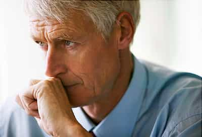 Pensive Senior Businessman