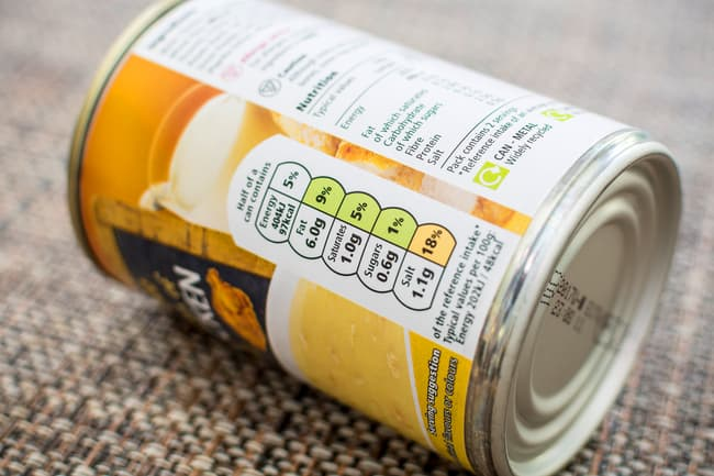 photo of canned soup
