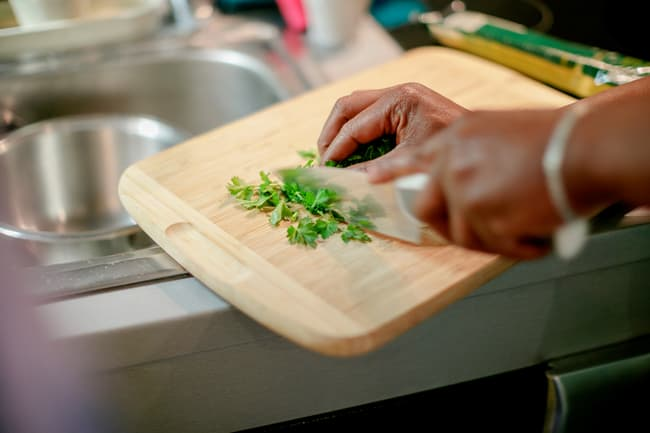 photo of chopped herbs