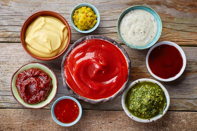 photo of different types of condiments