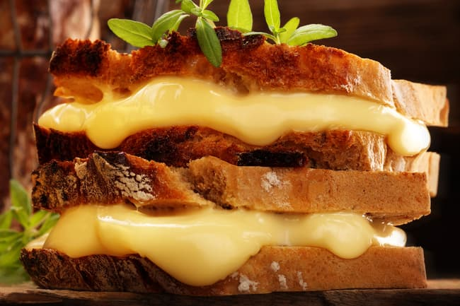 photo of grilled cheese sandwich