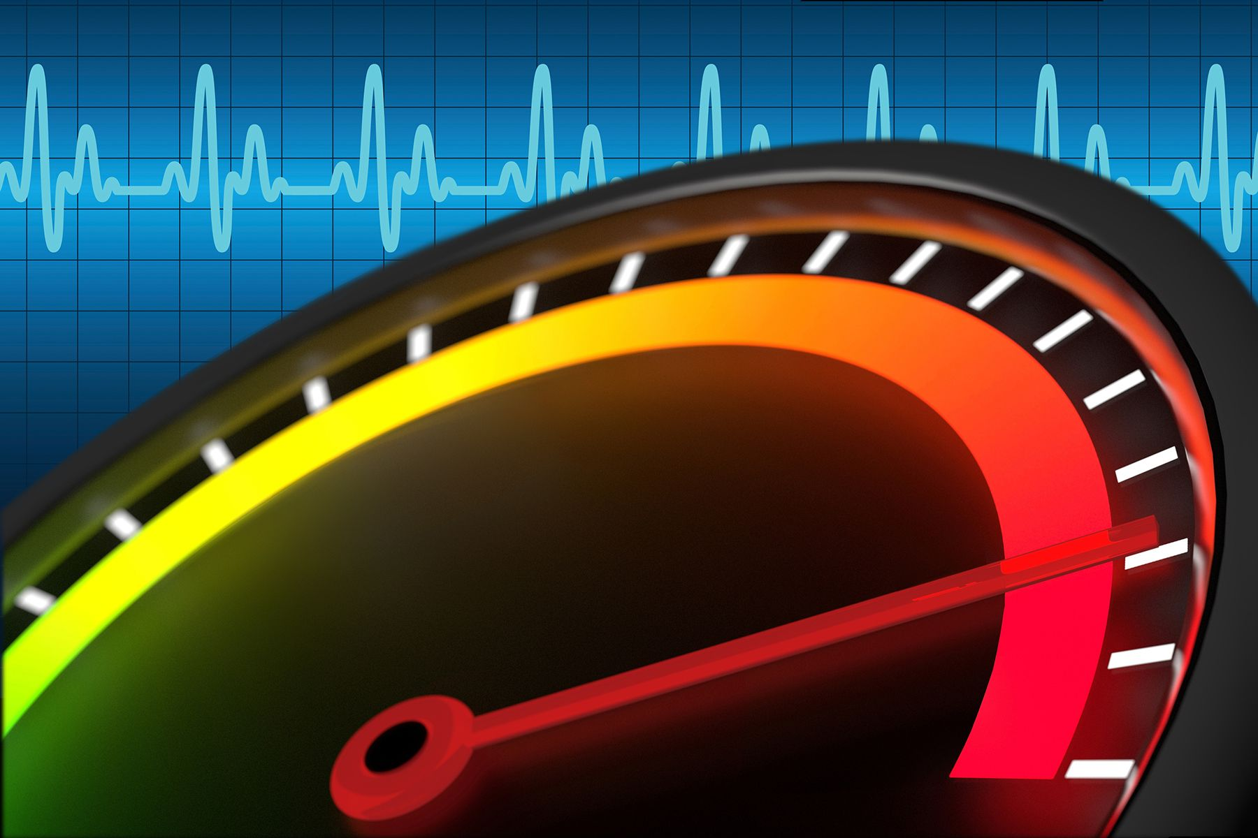 ekg readout and gauge