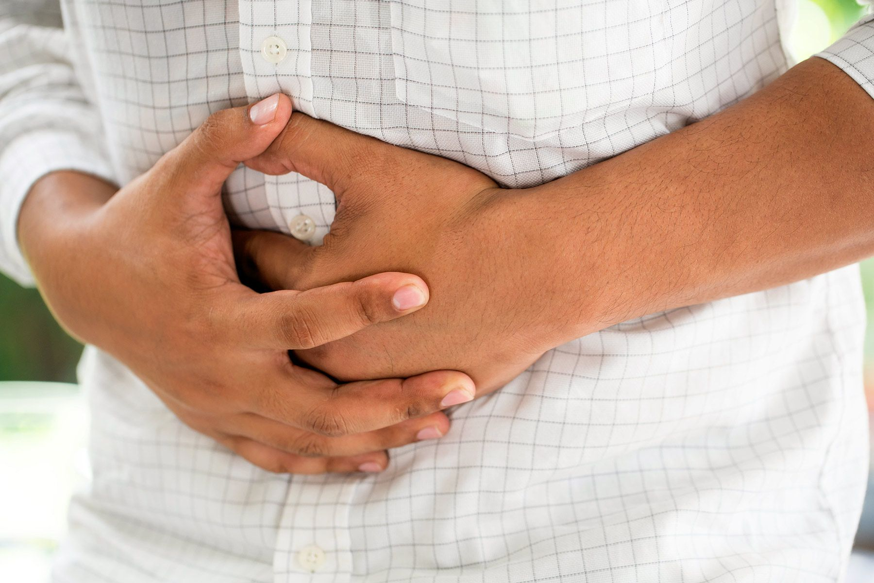 photo of person with stomach pain