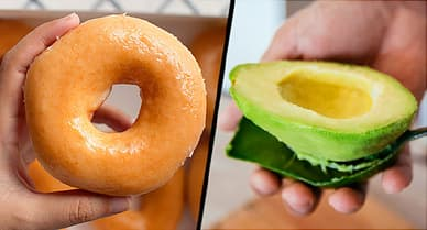 doughnut and avocado