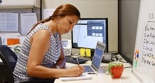 adhd challenges at work woman at desk