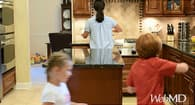 adhd parenting advice mom and kids in kitchen