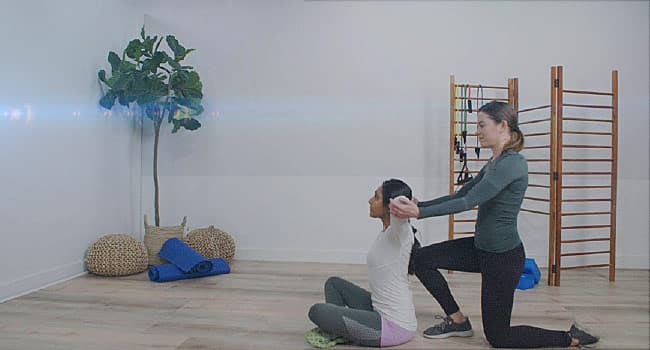 Video Simple Partner Stretches For Arms And Shoulders