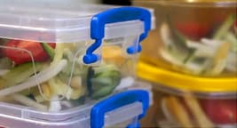 photo of lunch container with salad