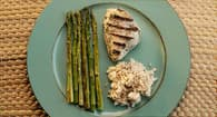 asparagus rice chicken dinner