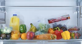 fruits and veggies in fridge