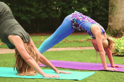 yoga mother and daughter