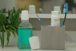 photo of dental hygiene products