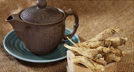 teapot and ginseng