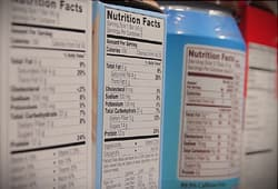 nutrition info labels