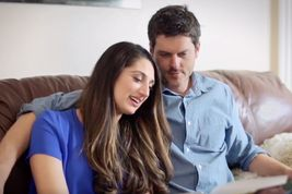 photo of couple on couch