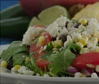 raw corn and black bean salad