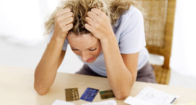 stressed woman pulling her hair