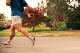 photo of man running for exercise