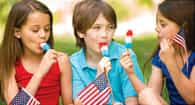 children eating popcicles