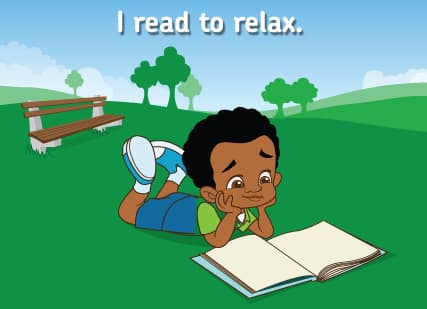 Reading a book outside Part 8 2