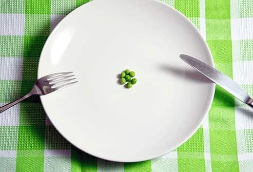few peas on a plate diet