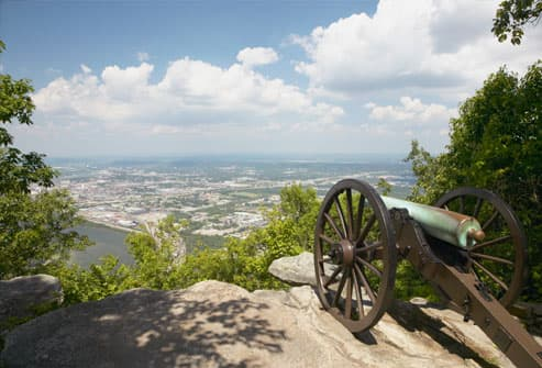 View of Chattanooga from Lookout Mountain