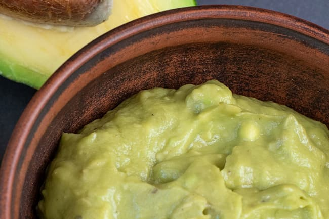 photo of avocado puree