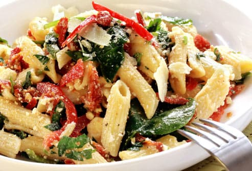 pasta with sun dried tomatoes