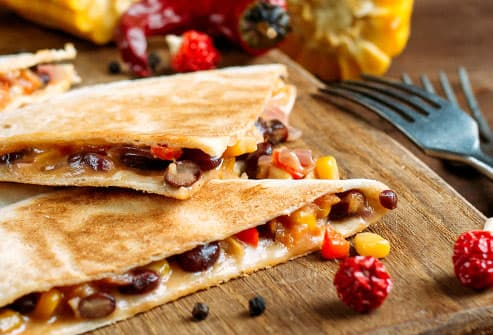 quesadillas with beans and cheese