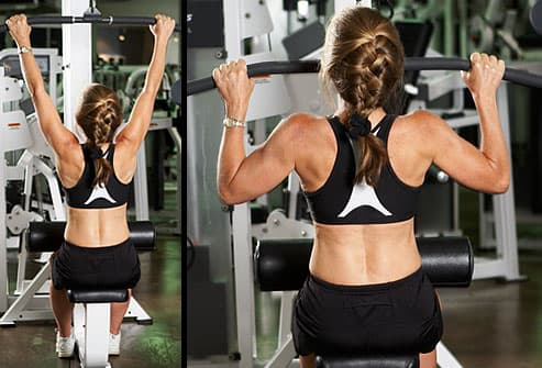 the minute fitness routine in pictures trainer using cable pulldown machine