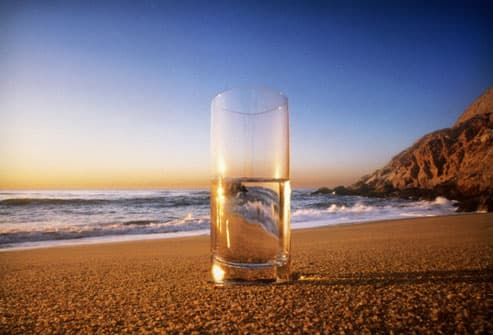 Glass of Water on the Beach