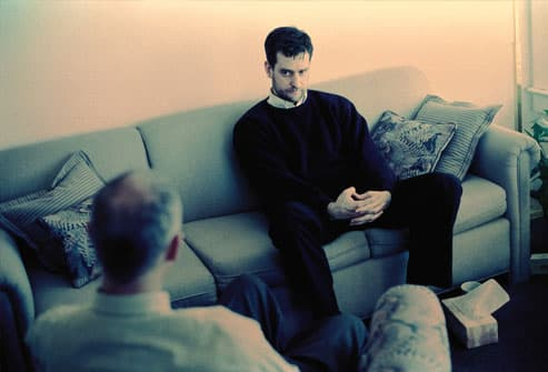 Psychologist and Patient in a Therapy Session