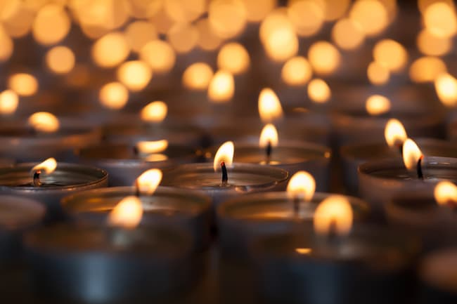 photo of candles glowing