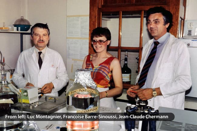 photo of luc montagnier and other researchers