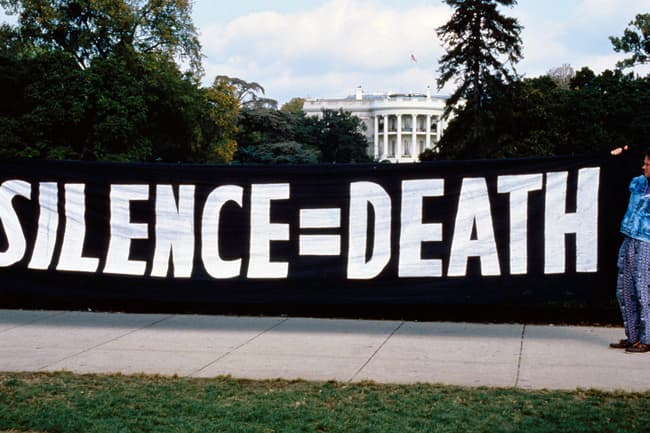 photo of silence = death banner