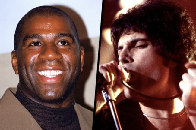 photo of magic johnson freddie mercury diptych