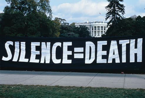 ACT UP Activists Protest US AIDS Policy