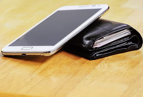 wallet and cell phone