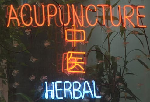 acupuncture neon sign