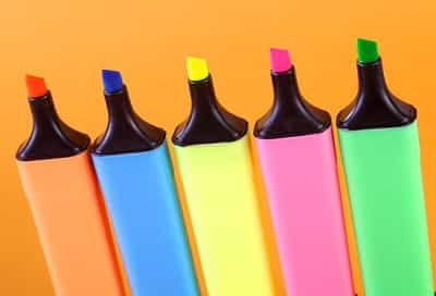 colored highlighters