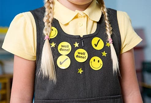 stickers on school uniform