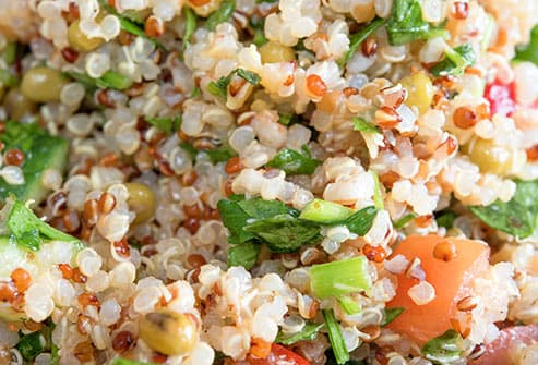 quinoa salad close up