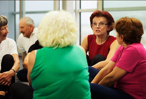 woman in support group