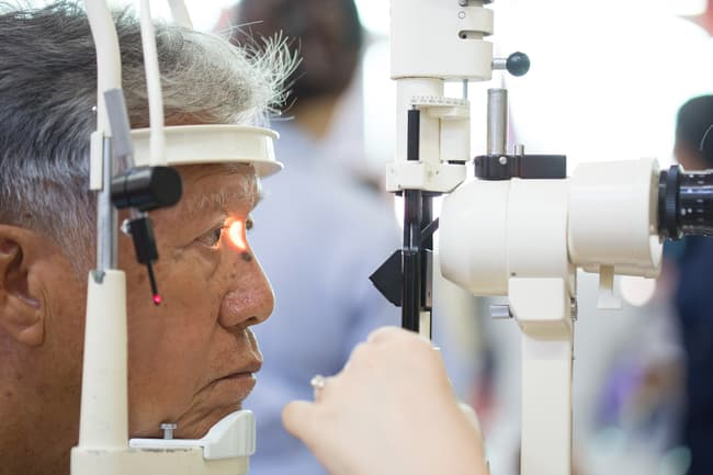 photo of eye exam