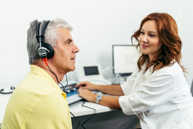 photo of hearing test