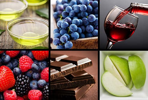 six foods with flavonoids