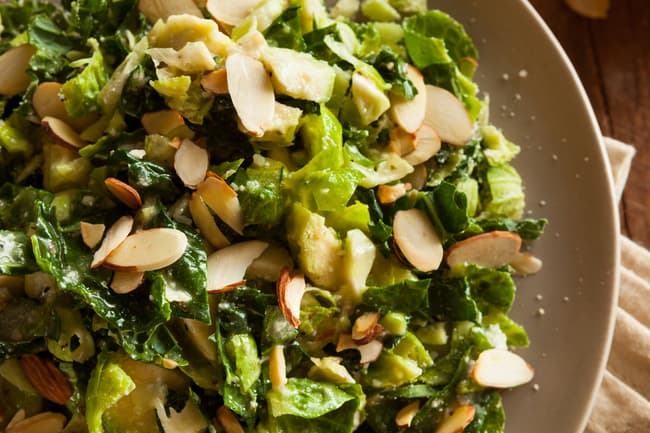 photo of shaved brussels sprouts salad
