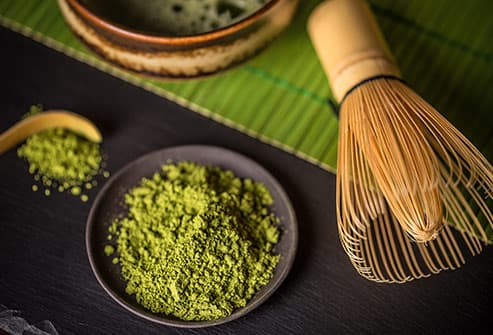 matcha and whisk