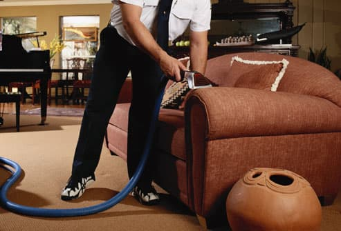 Professional steam cleaning upholstery
