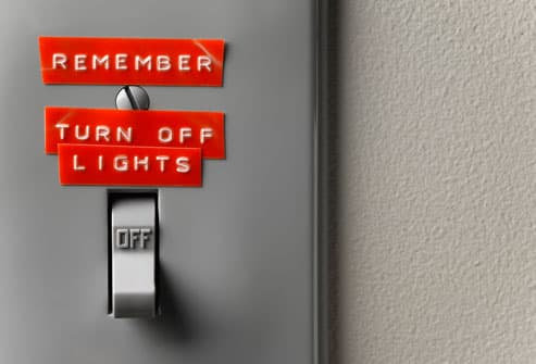 Reminder Note by Light Switch
